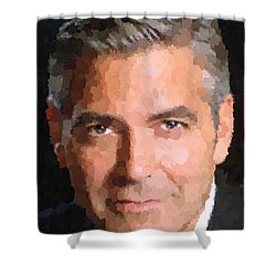 George Clooney Portrait Shower Curtain