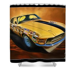 George Follmer 1970 Boss 302 Ford Mustang Shower Curtain