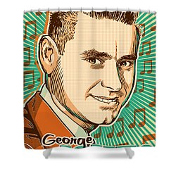 George Jones Pop Art Shower Curtain by Jim Zahniser