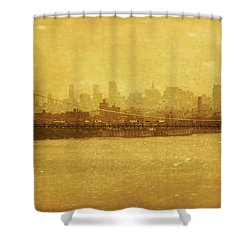 Shower Curtain featuring the photograph George Washington Bridge by Debra Fedchin
