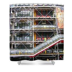 Georges Pompidou Centre Shower Curtain