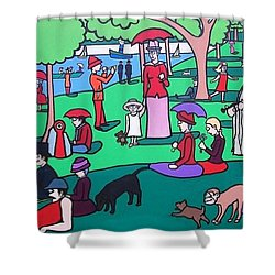 George Seurat- A Cyclops Sunday Afternoon On The Island Of La Grande Jatte Shower Curtain