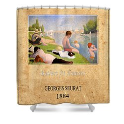 Georges Seurat 1 Shower Curtain by Andrew Fare