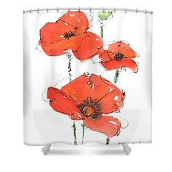 Georgetown Texas The Red Poppy Capital Shower Curtain