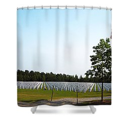 Shower Curtain featuring the photograph Georgia National Cemetery by Pete Trenholm