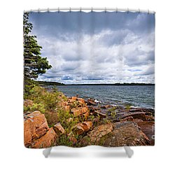 Georgian Bay Shore Shower Curtain by Elena Elisseeva