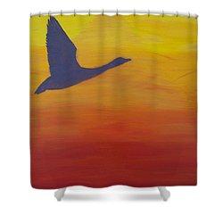 Georgian Bay Sunset Shower Curtain by Alex Banman