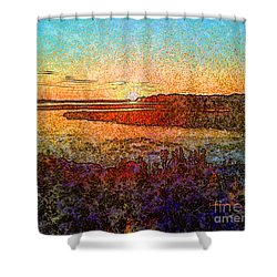 Georgian Bay Sunset Shower Curtain