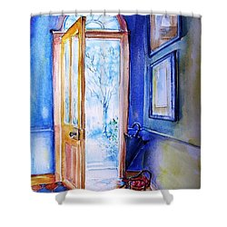 Winter Doorway Ireland    Shower Curtain