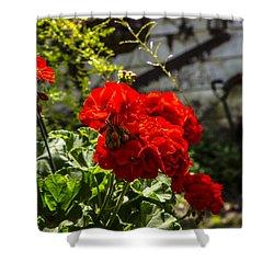 Geranium Bloom Shower Curtain
