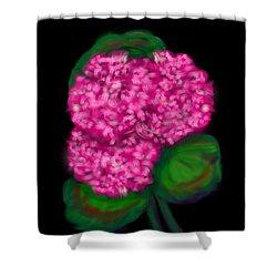 Shower Curtain featuring the digital art Geranium by Christine Fournier