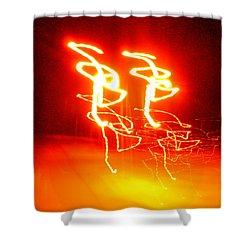 Geranium Lazer Fusion Shower Curtain