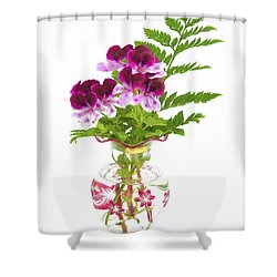 Geranium 'witchwood' Shower Curtain