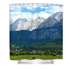 German Alps - Digital Painting Shower Curtain by Carol Groenen