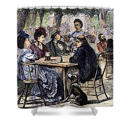 German Beer Garden, 1870 Shower Curtain by Granger