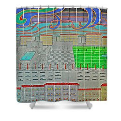 German Cityscape Shower Curtain