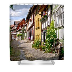 German Old Village Quedlinburg Shower Curtain by Heiko Koehrer-Wagner