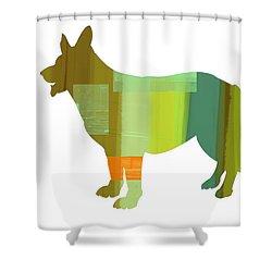 German Sheppard 1 Shower Curtain by Naxart Studio