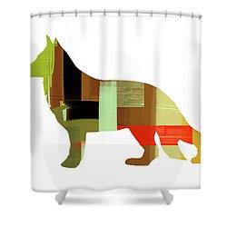 German Sheppard 2 Shower Curtain by Naxart Studio