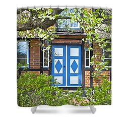 German Timber-framed Country House Shower Curtain by Heiko Koehrer-Wagner
