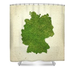 Germany Grass Map Shower Curtain by Aged Pixel
