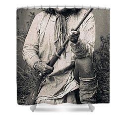 Geronimo - 1886 Shower Curtain by Daniel Hagerman