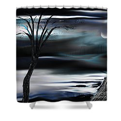 Shower Curtain featuring the painting Get Back To Serenity by Yul Olaivar