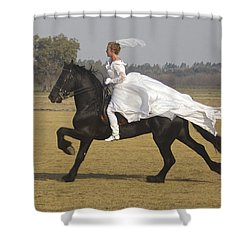 Get Me To The Church On Time Shower Curtain