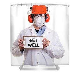 Get Well Shower Curtain by Edward Fielding
