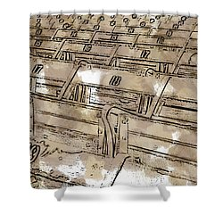 Get Your Seat Shower Curtain by Alice Gipson