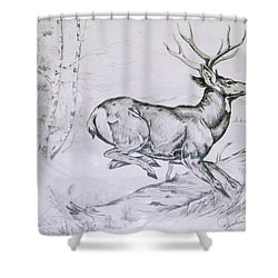 Getting Away Shower Curtain
