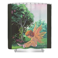 Getting Dressed Shower Curtain