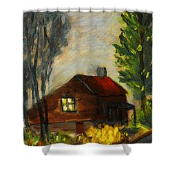 Getting Home At Twilight Shower Curtain by Michael Daniels