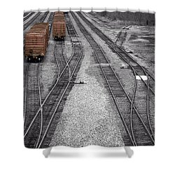 Getting On The Right Track Shower Curtain