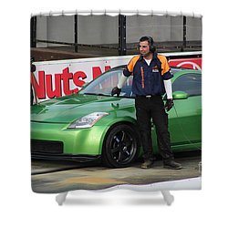 Getting Ready To Race Shower Curtain