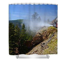 Getting Steamed Shower Curtain by Jeremy Rhoades