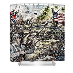 Gettysburg Ash's At The Angle Shower Curtain