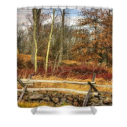 Gettysburg At Rest - Almost Home  - J. Weikert Farm Autumn Shower Curtain by Michael Mazaika