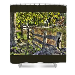 Shower Curtain featuring the photograph Gettysburg At Rest - Late Summer Along The J. Weikert Farm Lane by Michael Mazaika
