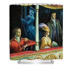 Ghost At The Theatre Shower Curtain by Andrew Howat