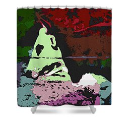 Ghost Cow Shower Curtain by George Pedro