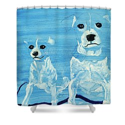 Ghost Dogs Shower Curtain by Terry Lewey