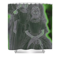 Ghost Family Portrait Shower Curtain by First Star Art