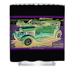 Shower Curtain featuring the photograph Ghost Flamed by Bobbee Rickard