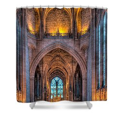 Ghost In The Cathedral Shower Curtain by Adrian Evans