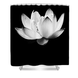 Ghost Lotus Shower Curtain