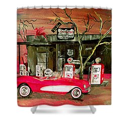 Ghost Of 66 Shower Curtain by Mark Moore
