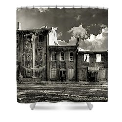 Shower Curtain featuring the photograph Ghost Of Our Town by Jaki Miller