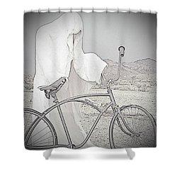 Ghost Rider Sketch Shower Curtain by Marcia Socolik