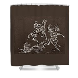 Ghost Riders In The Sky Shower Curtain by Tom Conway
